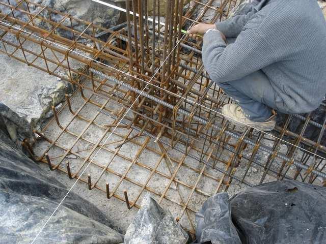 Surveying course construction surveys for Concrete pillars for foundation